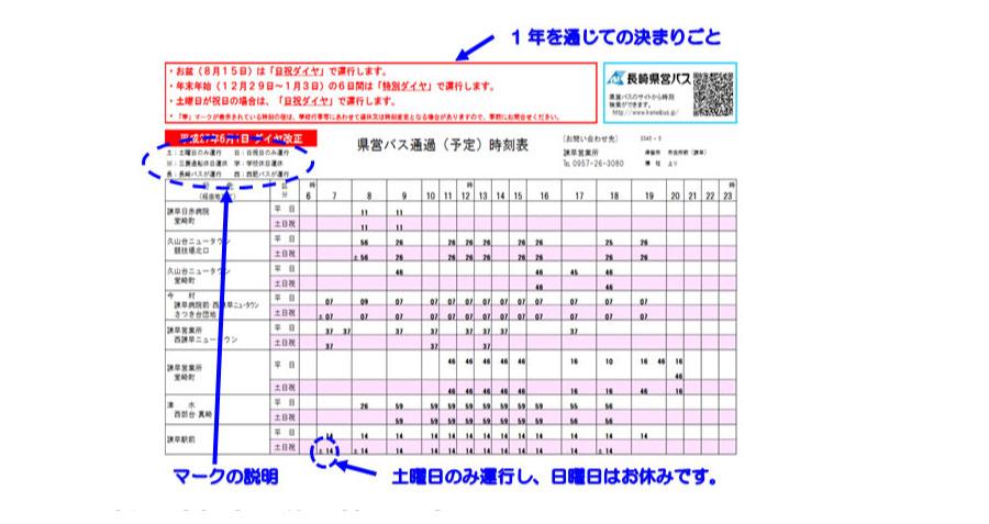バス 表 長崎 時刻